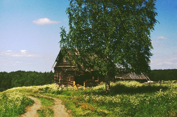 """Оригинал - Схема вышивки  """"Дом в деревне """" - Схемы автора  """"hrist """" - Вышивка крестом."""